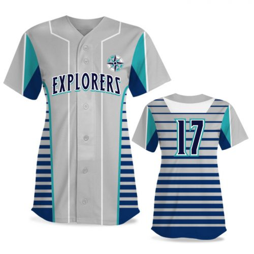Custom Sublimated Elite Lineup FP Jersey SS Full-Button