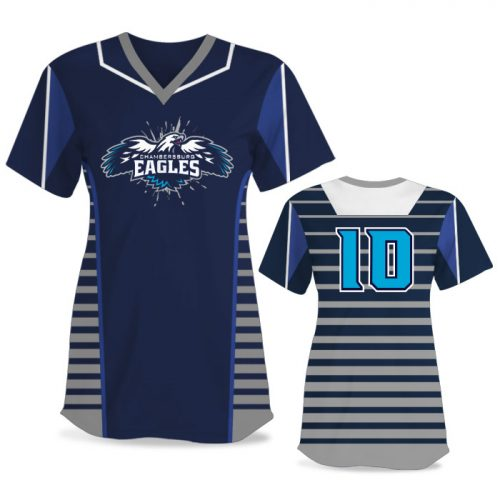 Custom Sublimated Elite Lineup FP Jersey SS No-Button