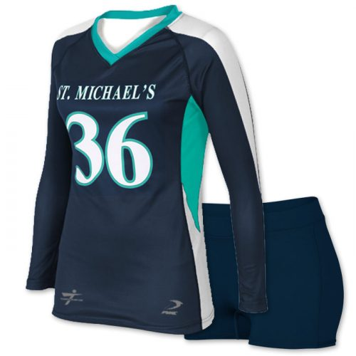 sublimated long sleeve volleyball jersey
