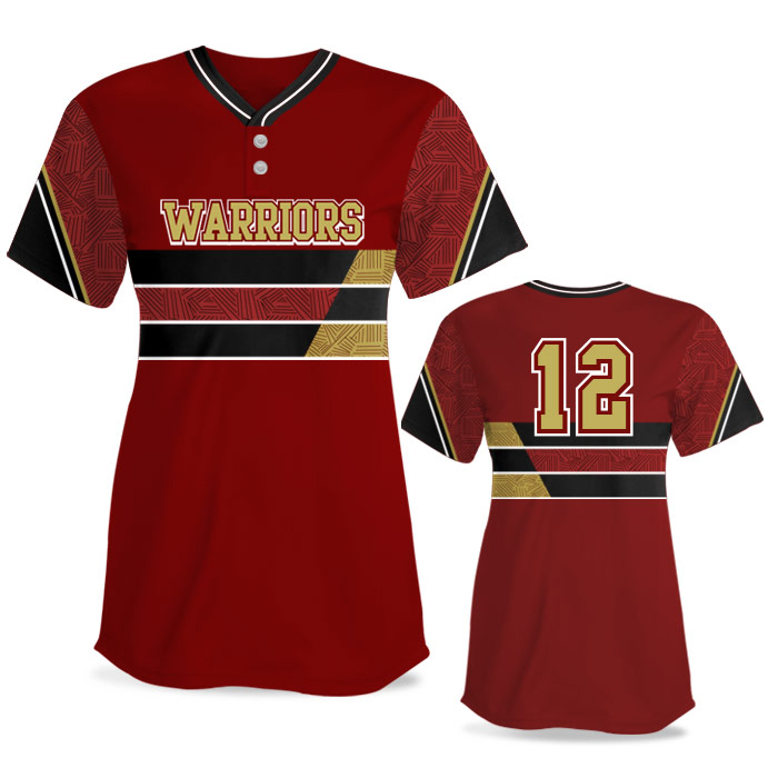Custom Sublimated Elite New School FP Jersey SS 2-Button