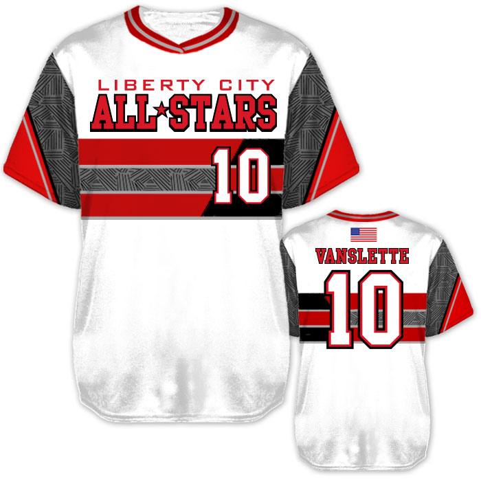 Custom Sublimated Elite New School BB Jersey SS No-Button