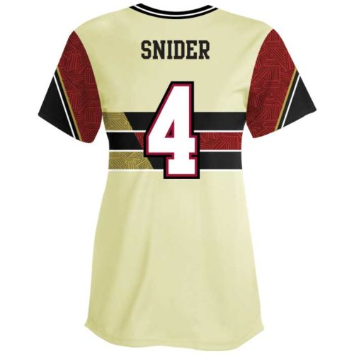 Sublimated Elite New School Custom Fastpitch Jersey Crew Back View