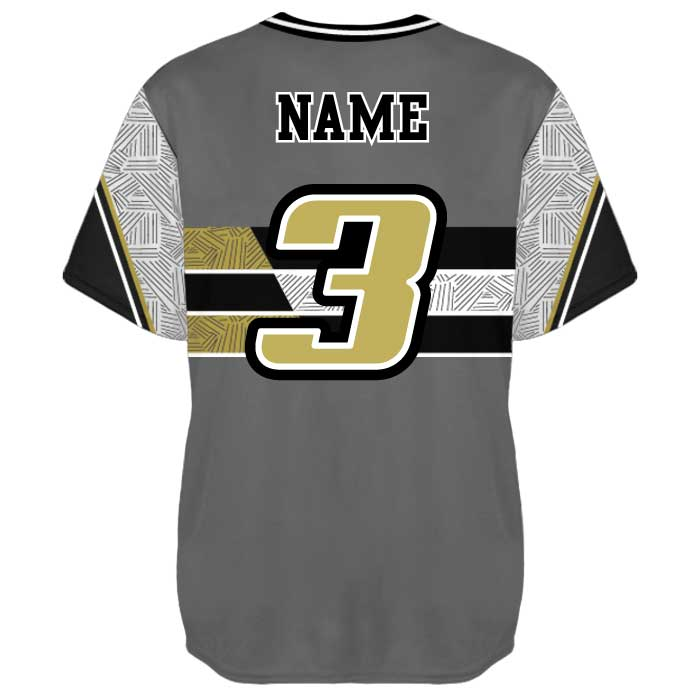 Sublimated Elite New School Custom Baseball Jersey Crew Back View