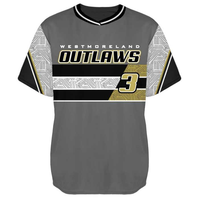 Sublimated Elite New School Custom Baseball Jersey Crew Front View