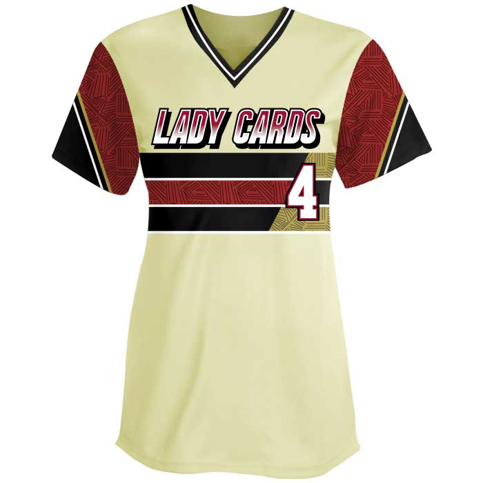 Sublimated Elite New School Custom Fastpitch Jersey Crew Front View
