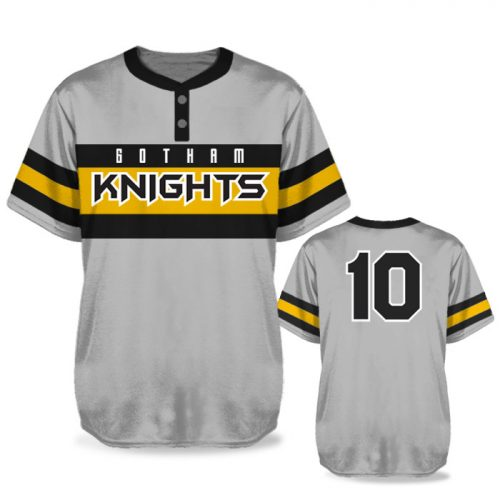 Custom Sublimated Elite Old School BB Jersey SS 2-Button