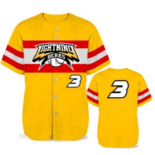 Custom Sublimated Elite Old School BB Jersey SS Full-Button