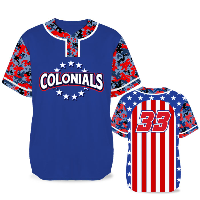Custom Sublimated Elite Only In America BB Jersey SS 2-Button