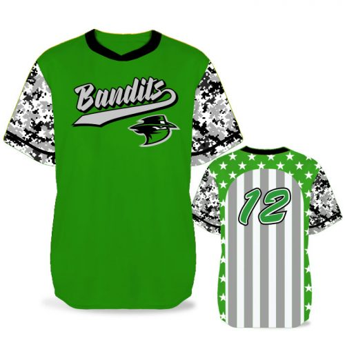 Custom Sublimated Elite Only In America BB Jersey SS No-Button