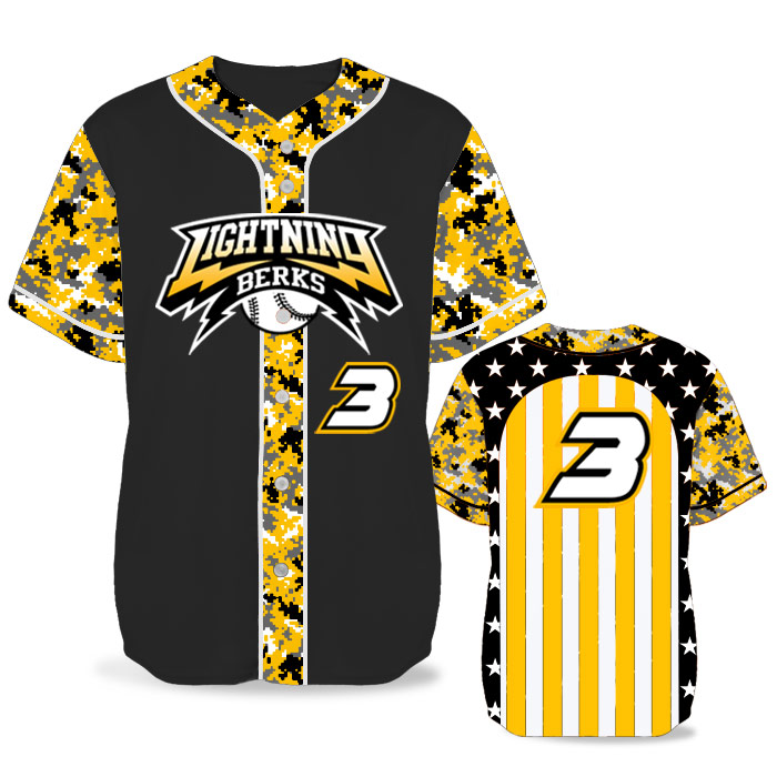 Custom Sublimated Elite Only In America BB Jersey SS Full-Button