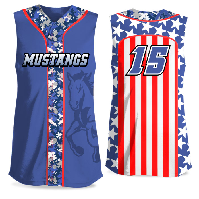 Custom Sublimated Elite Only in America Digi Camo FP Jersey SL Full-Button