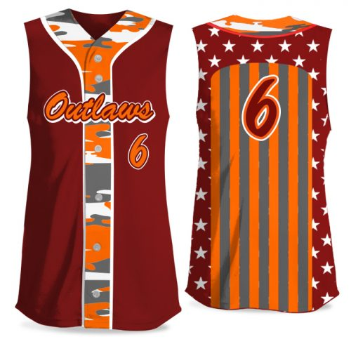 Custom Sublimated Elite Only in America Traditional Camo FP Jersey SL Full-Button