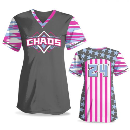 Custom Sublimated Elite Only in America Traditional Camo FP Jersey SS No-Button