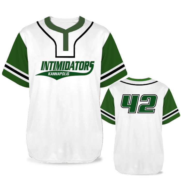 Custom Sublimated Elite Pastime BB Jersey SS 2-Button