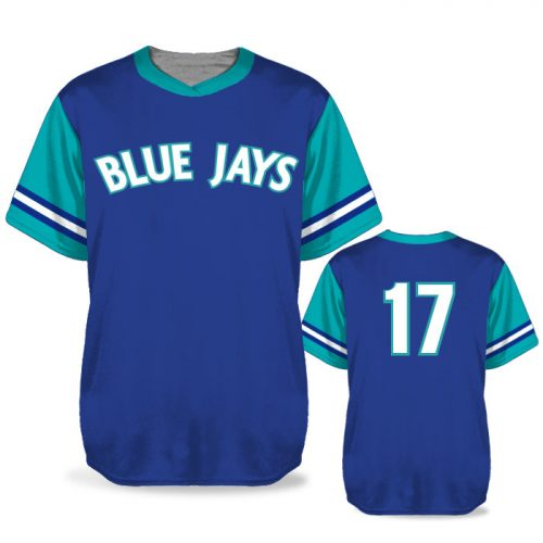 Custom Sublimated Elite Pastime BB Jersey SS No-Button