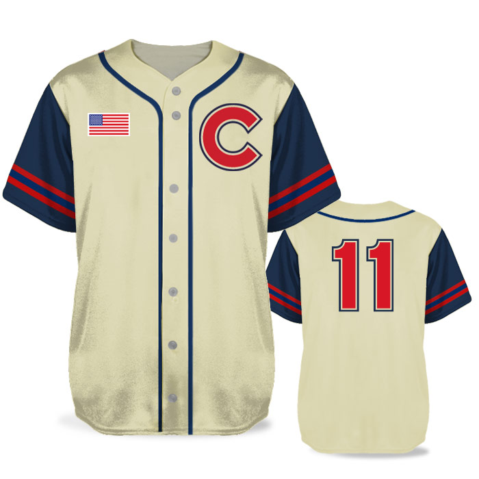 Custom Sublimated Elite Pastime BB Jersey SS Full-Button