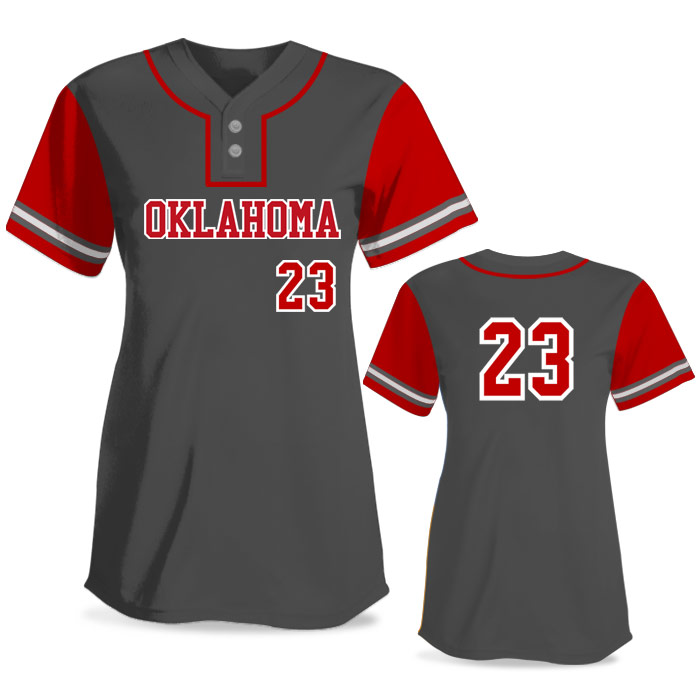 Custom Sublimated Elite Pastime FP Jersey SS 2-Button