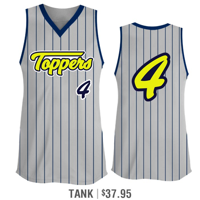 Sleeveless Tank Custom Sublimated Elite Pinstripe Fastpitch Jersey
