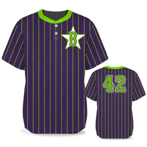 Custom Sublimated Elite Pinstripe BB Jersey SS 2-Button