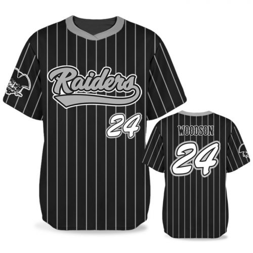 Custom Sublimated Elite Pinstripe BB Jersey SS No-Button