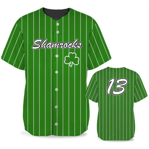 Custom Sublimated Elite Pinstripe BB Jersey SS Full-Button