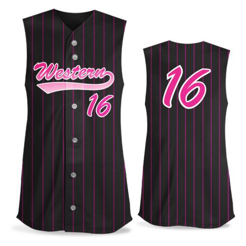 Custom Sublimated Elite Pinstripe FP Jersey SL Full-Button
