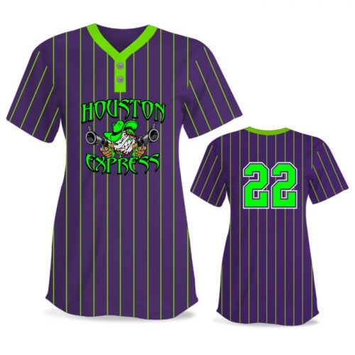 Custom Sublimated Elite Pinstripe FP Jersey SS 2-Button