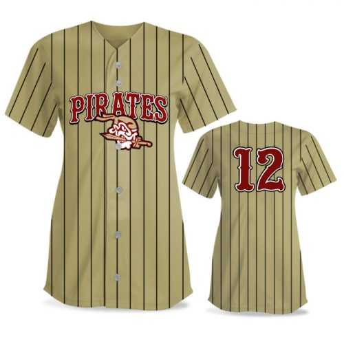 Custom Sublimated Elite Pinstripe FP Jersey SS Full-Button