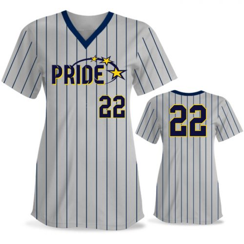 Custom Sublimated Elite Pinstripe FP Jersey SS No-Button