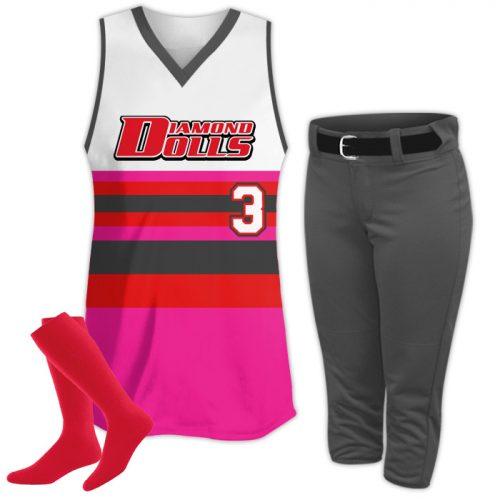 Custom Sublimated Retro Softball Uniform Package