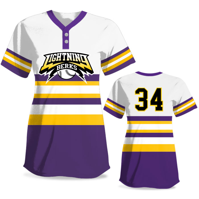 Custom Sublimated Elite Retro FP Jersey SS 2-Button