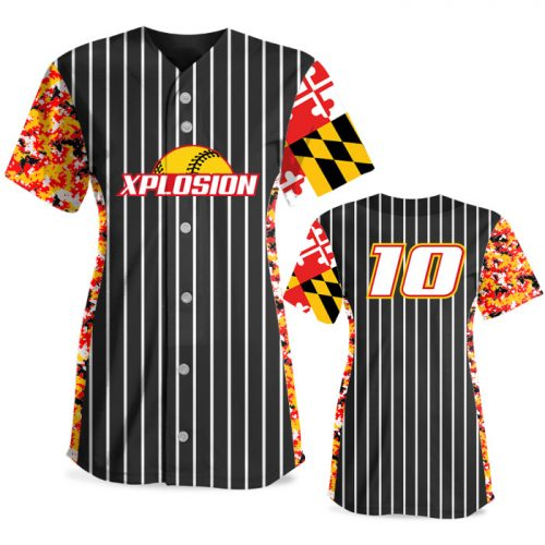 Custom Sublimated Elite Small Town USA FP Jersey SS Full-Button