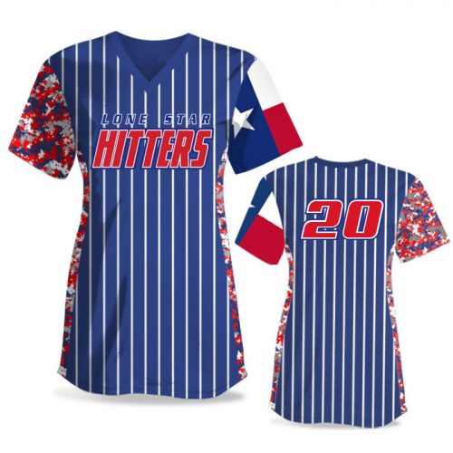 Custom Sublimated Elite Small Town USA FP Jersey SS No-Button