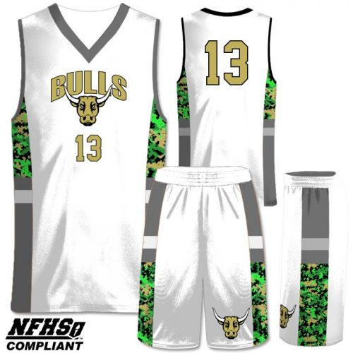 Camo Elite Spinner 2 custom sublimated basketball uniform