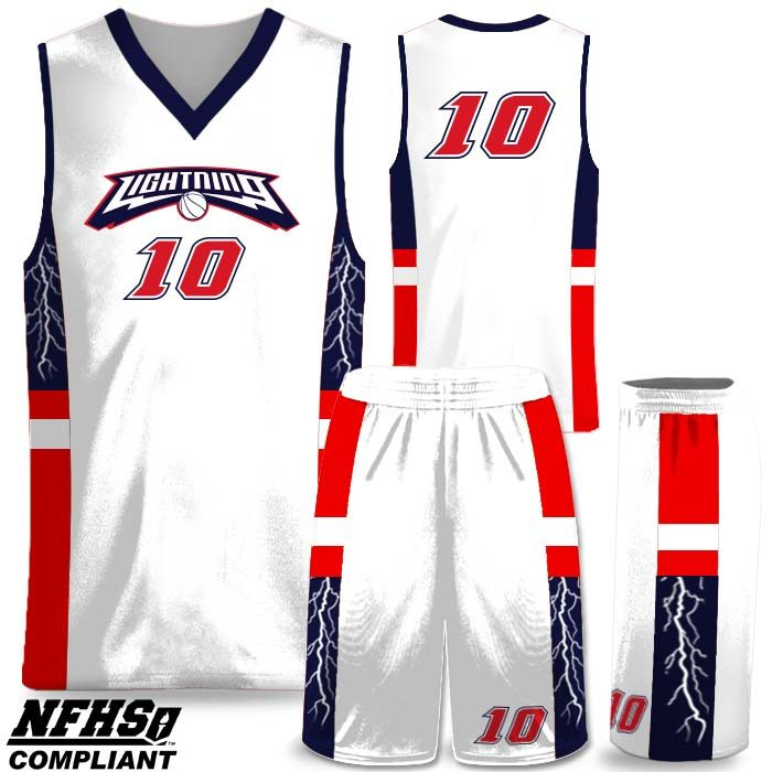 Lightning Elite Spinner 2 custom sublimated basketball uniform