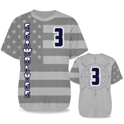 Custom Sublimated Elite Star-Spangled Banner BB Jersey SS No-Button