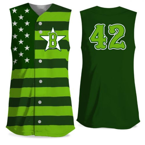 Custom Sublimated Elite Star-Spangled Banner FP Jersey SL Full-Button