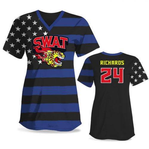 Custom Sublimated Elite Star-Spangled Banner FP Jersey SS No-Button