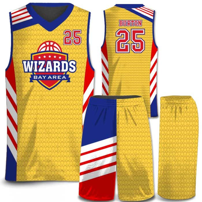 Elite Super Arrow full color sublimated basketball uniform