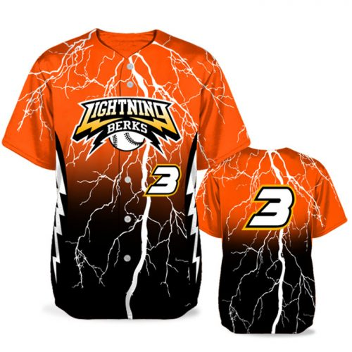 Custom Sublimated Elite Thunderstruck BB Jersey SS Full-Button