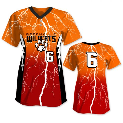 Custom Sublimated Elite Thunderstruck FP Jersey SS 2-Button