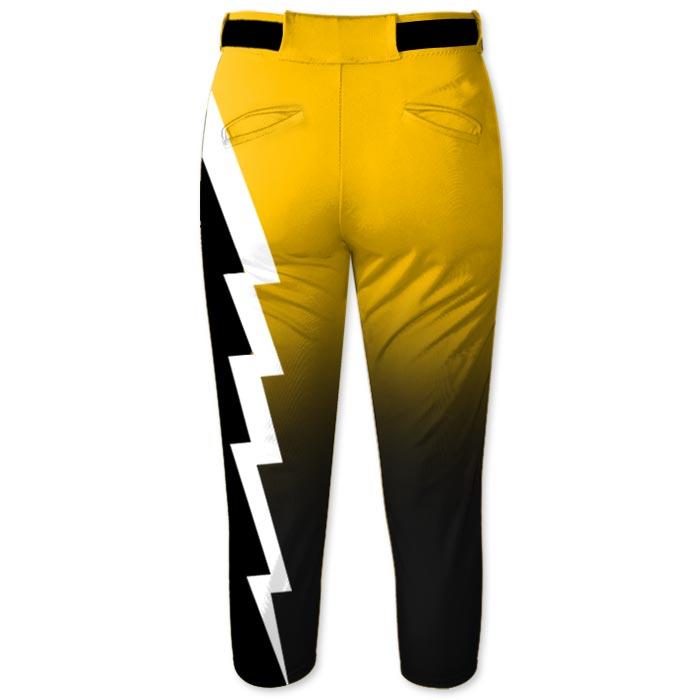 Elite Thunderstruck Softball Pants, Lighting Bolt, Custom, Sublimated, Storm