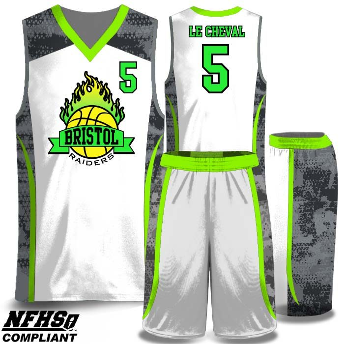 Full color sublimated basketball uniform NFHS compliant