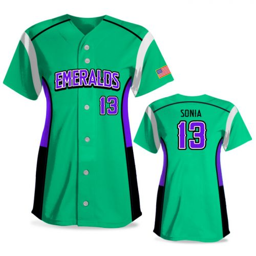 Custom Sublimated Elite Triple Play FP Jersey SS Full-Button