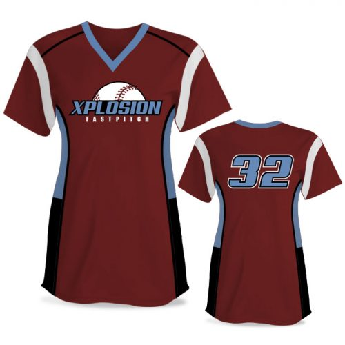 Custom Sublimated Elite Triple Play FP Jersey SS No-Button