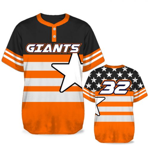 Custom Sublimated Elite United We Stand BB Jersey SS 2-Button