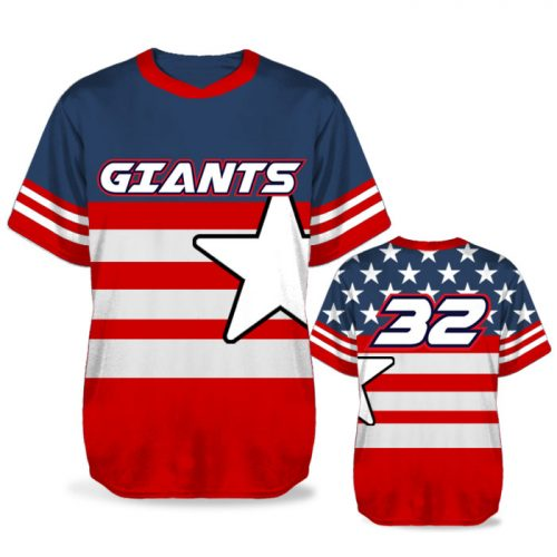 Custom Sublimated Elite United We Stand BB Jersey SS No-Button