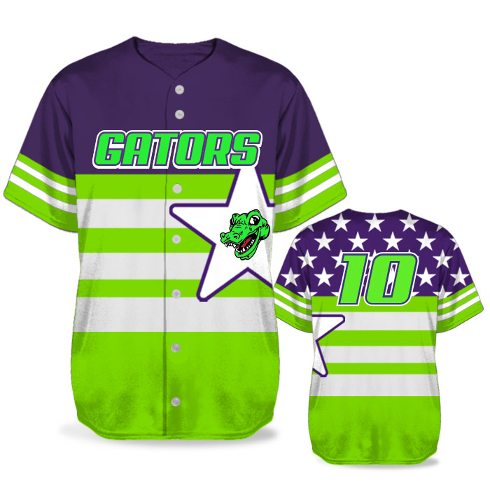 Custom Sublimated Elite United We Stand BB Jersey SS Full-Button