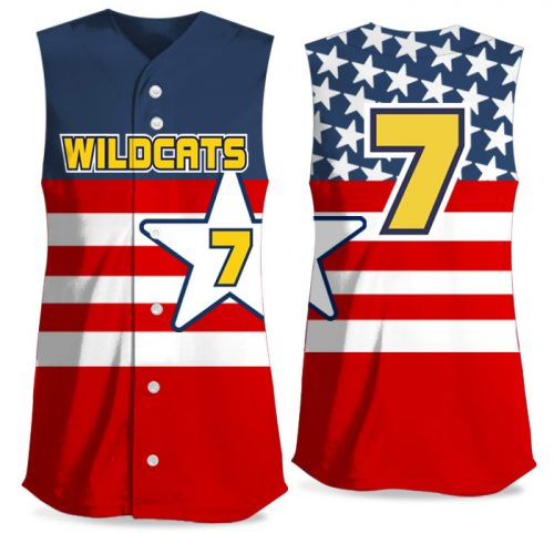 Custom Sublimated Elite United We Stand FP Jersey SL Full-Button