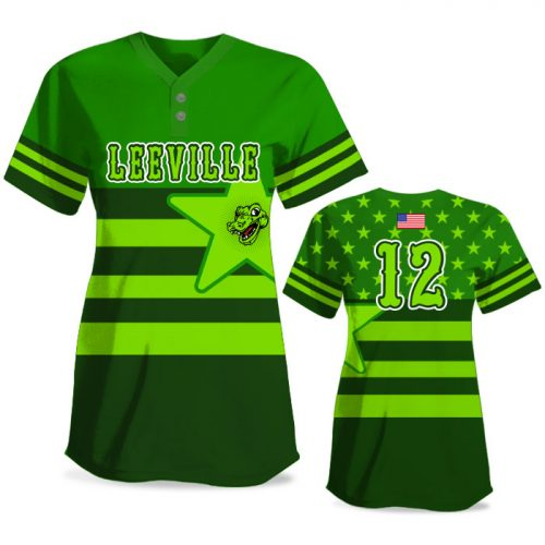 Custom Sublimated Elite United We Stand FP Jersey SS 2-Button